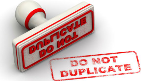 Charity data cleanse - do not duplicate stamp
